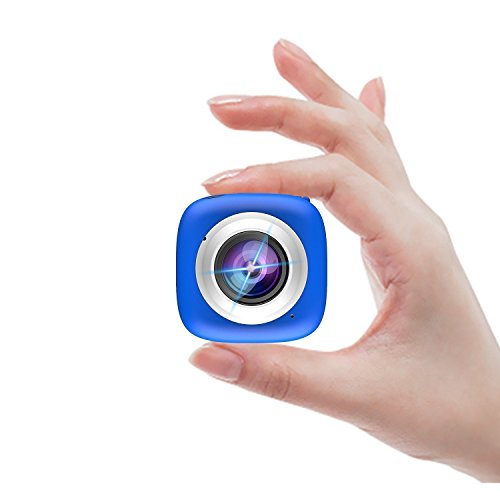 Sport Action Camera - Elecwave EW-SC01 Stick Anywhere Selfie Sport Camera Multi-Functional APP Remote Control DV Recorder Suitable for Indoor and Outdoor, Blue