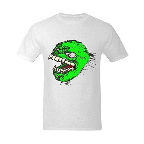 Yvonger Men's Poison Evil Monster Tooth Head Kill Shirt -