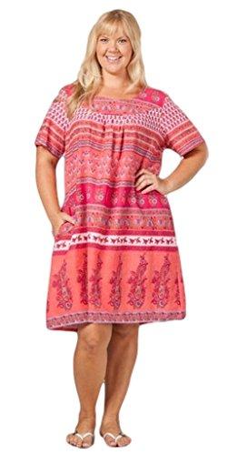 (La Cera Women's Plus Size Short Sleeve Muu Muu Dress 2X Floral)