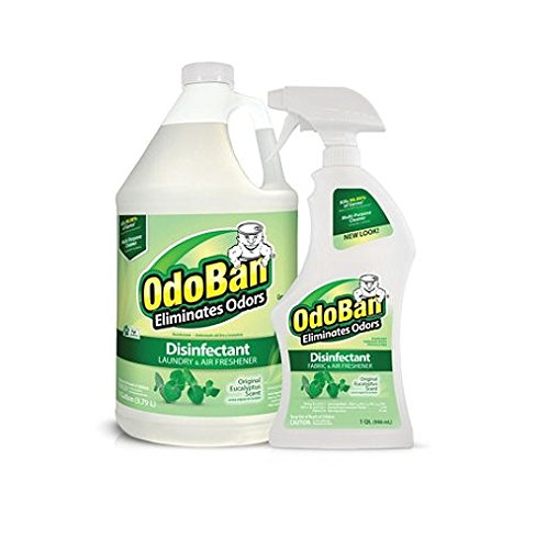 OdoBan Odor Disinfectant, Eucalyptus (1 Gallon Concentrate / 32 oz. Ready-to-Use) by Europe Standard