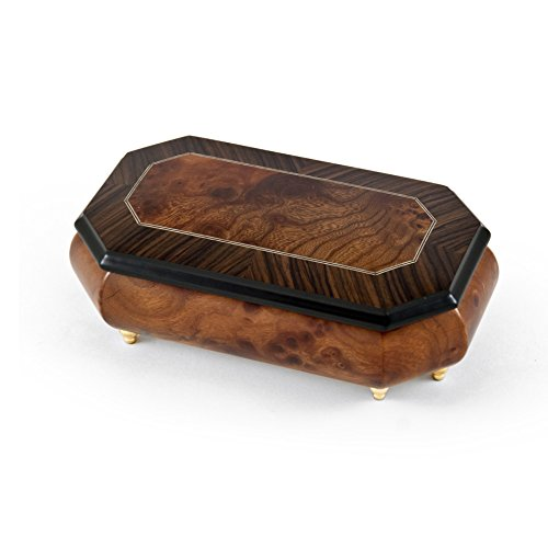 Gorgeous 36 Note Natural Wood Tone Classic Style Cut Corner Music Box - Many Song Choices by MusicBoxAttic