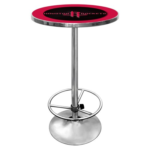 NBA Houston Rockets Chrome Pub Table by Trademark Gameroom