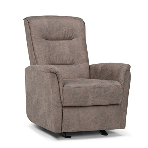 Simpli Home Percy Glider Recliner, Distressed Grey