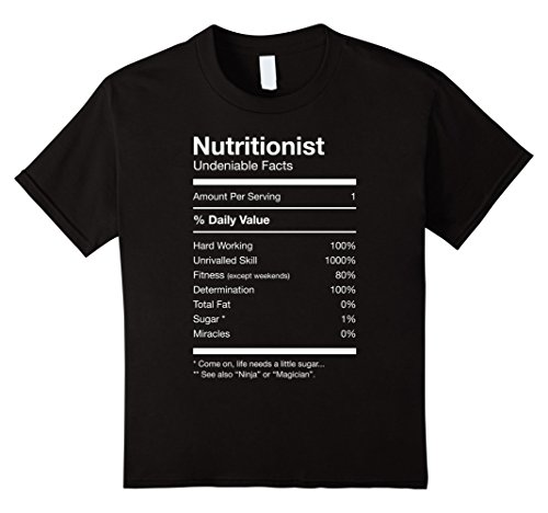 [Kids Nutritionist Nutrition Facts Funny Cute Gag T-shirt 8 Black] (Doctor And Patient Couple Costume)