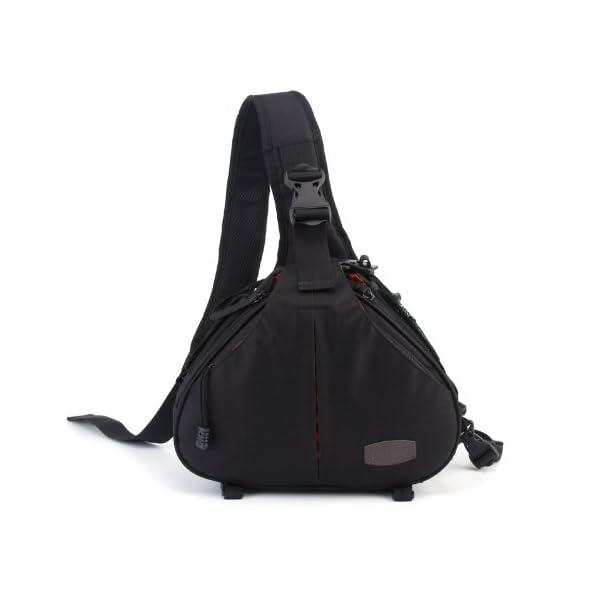 Caden K1 Waterproof Fashion Casual DSLR Camera Bag Case Messenger Shoulder Bag per Canon Nikon Sony (Nero) 1 spesavip
