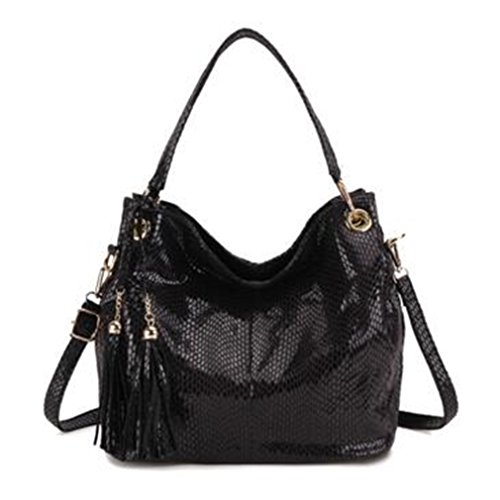 Crossbody Hobos Leather Women Bag Tote Tassel Handbags Yardar Blue Bags Shoulder aOUqn50