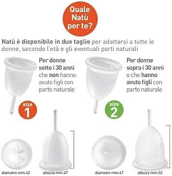 NATÙ Copa Menstrual tamaño 1 - La alternativa ecológica y económica a los tampones