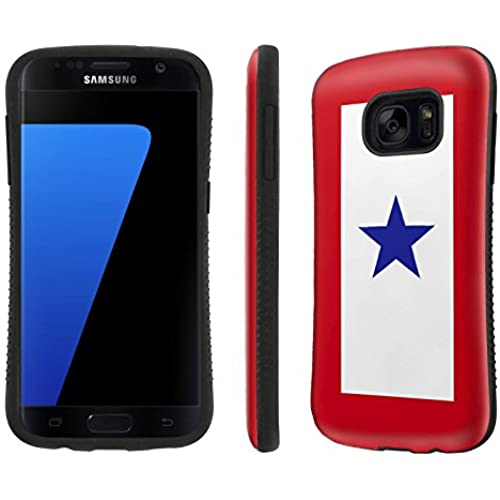 Galaxy [S7] Tough Designer Case [SlickCandy] [Black Bumper] Ultra Shock Absorbent - [Service Mother Blue Star] for Samsung Galaxy S7 / GS7 Sales