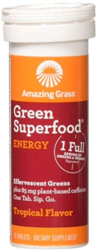Amazing Grass, Green Superfood Energy Tropical Single, 10 Count