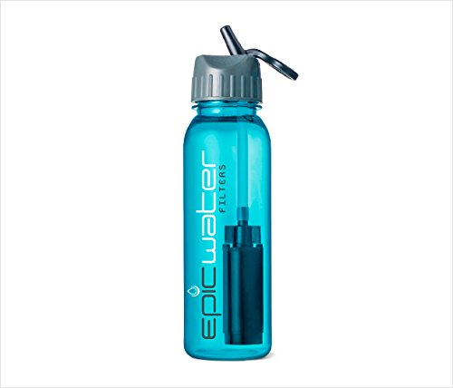 Epic Tritan Series Aqua Water Bottle with Tap - Stainless Water Filter Pitcher