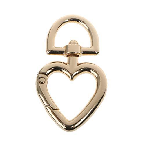 - LGQing Heart Shape Metal Swivel Clasp Lanyard Snap Hook Spring Claw Clasps