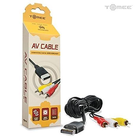 Childhood 6 pies 1.8m 3RCA Audio Video Cable AV para consola de juegos Sega Dreamcast DC