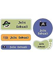 Essmak 74 Personalized Name Labels Pack - Multipurpose Labels for School Kids