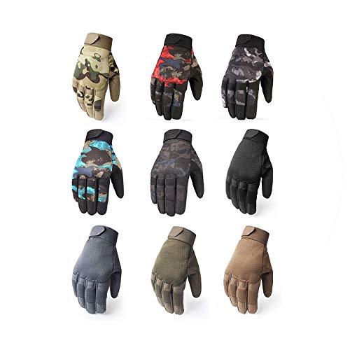 Hiking Climbing Shooting Paintball Camo Sport Full Finger Gloves