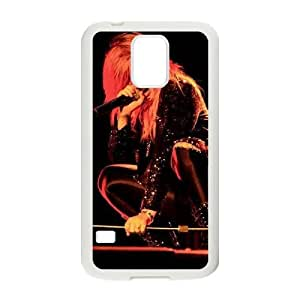DAFUWENG(TM) Diy Customized Phone Case Demi Lovato Pattern for samsung galaxy s5 White