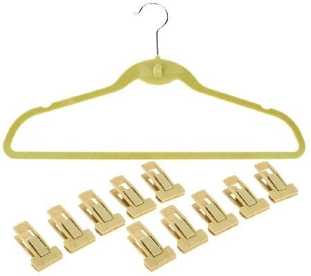 Space Saving, Organizational, Cascading Hangers, Cascade Hangers Blue- Pack 50 with 10 Pant Clips Space Saving Cascading by Dead Sea Spa Care (Image #1)
