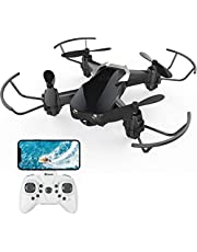$38 » Mini Drone with Camera for Kids and Adults, EACHINE E61HW WiFi FPV Quadcopter with 720P HD Camera Selfie Pocket Nano Drone for Beginner - Auto Hover Mode, One Key Take Off/Landing, APP Control