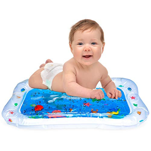 Hoovy Baby Inflatable Water Play Mat: Fun, Indoor & Outdoor Pad for Babies & Infants | Great Tummy Time Activity, Promotes Visual Stimulation, Movement & Motor Skills | Easy to Inflate & Deflate