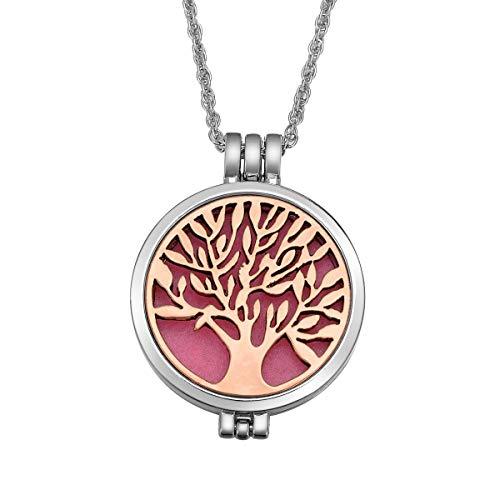 Aceites Esenciales Aromaterapia Difusor de aleación collar árbol de la vida colgante camafeo con diferentes color