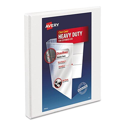 Avery Slant Ring Binder - Avery Heavy-Duty Nonstick View Binder, 1/2