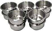 10PCS STAINLESS STEEL POKER TABLE CUP HOLDER DUAL SIZE