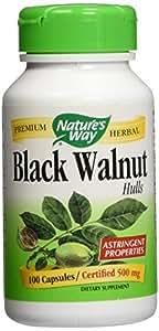 Nature's Way - Black Walnut Hulls, 500 mg, 100 capsules