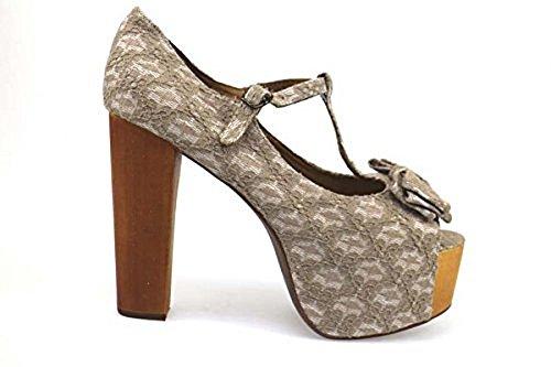 Jeffrey Campbell Zapatos Mujer 40 EU Sandalias Blanco Textil Gris AP668