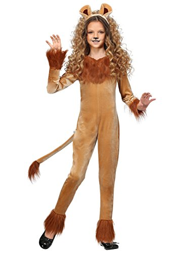 Girl's Fierce Lion Costume -