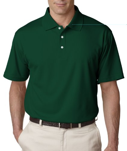 Ultraclub Mens Cool & Dry Stain-Release Performance Polo 8445 -Forest Green L