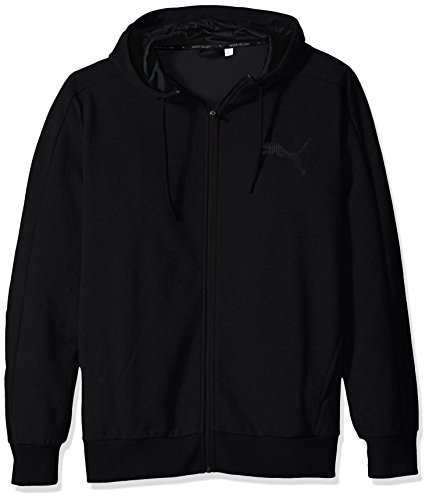 Core Fleece Hoody (PUMA Men's P48 Core FZ Hoody FL, Cotton Black,)