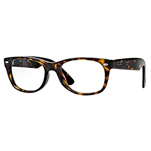 Ray-Ban New Wayfarer Square Eyeglasses,Dark Havana,50 mm