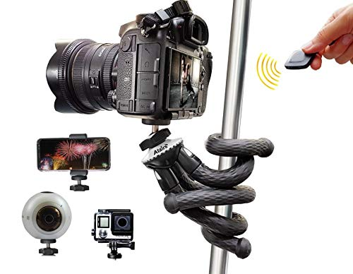 Flexible Bluetooth Travel Tripod for Smartphones, DSLR, GoPro Atairs
