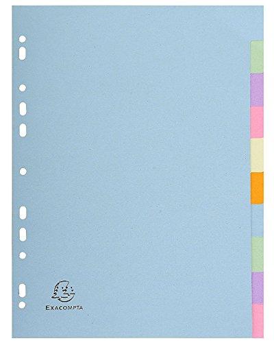 Forever 10 Part Plain Dividers - Assorted pastel Colours (3)