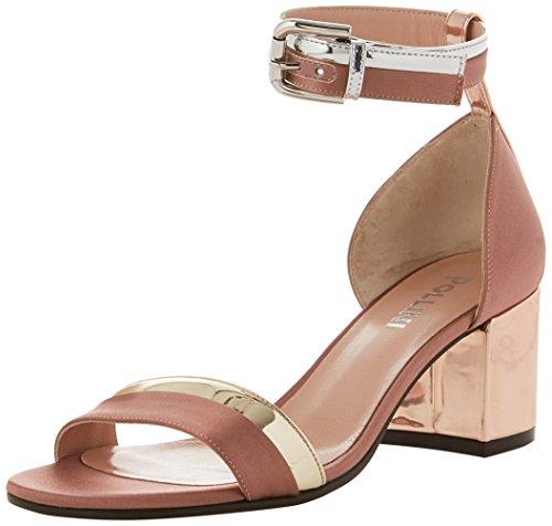 qu Para sandal 60a ag pl Pollini Pulsera W Multicolor Mujer Sandalia Con vw1qX