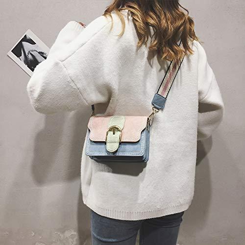 Larga Giallo A Piccola Selvaggia Femminile Rosa Blu Borsa Moda Colorata Quadrata Tracolla Xmy Z4q7ww