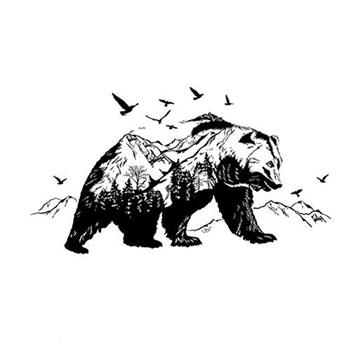 Large Black Mountain Bears Decorative Wall Stickers Decor Wallpaper Room Decoration Decals Bedroom - Wall Stickers
