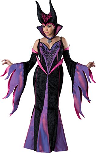 InCharacter Costumes Women's Plus-Size Dark Sorceress Costume, Black/Fuchsia, XX-Large