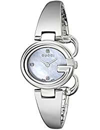 Guccissima Stainless Steel Diamond-Accented Bangle Womens Watch(Model:YA134504)