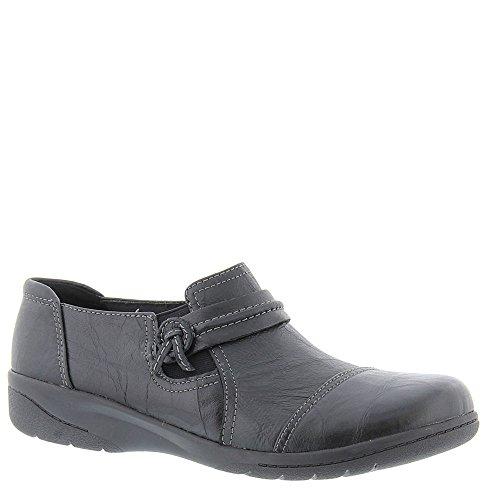 CLARKS Womens Cheyn Madi Leather Closed Toe, Black, Size 7.0