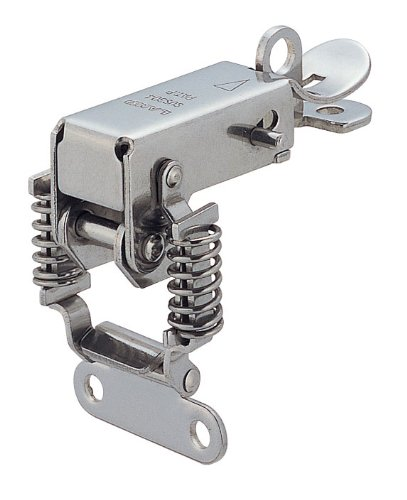 Stainless Steel 304 Spring Loaded Corner Fastener Latch, Polished Finish, Non Locking, 2 5/16