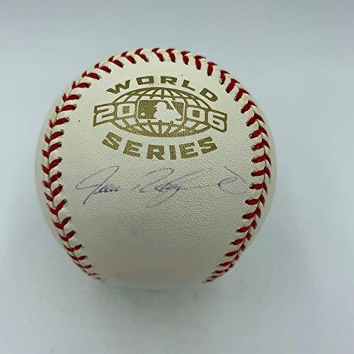 - Autographed Ivan Rodriguez Baseball - Official 2006 World Series COA - JSA Certified - Autographed Baseballs