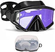 AQUA A DIVE SPORTS Diving mask Anti-Fog Swimming Snorkel mask Suitable for Adults Scuba Dive Swim Snorkeling G