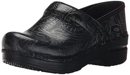 Dansko Women's Professional Clog, Black Tooled Leather , 35 EU/4.5-5 M US by Dansko