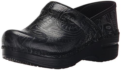 Dansko Women's Professional Clog, Black Tooled Leather , 35 EU/4.5-5 M US by Dansko (Image #1)