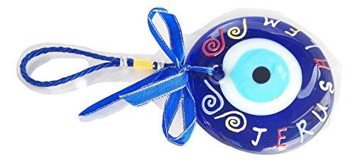 new Decorative wall Hanging Evil Eye glass Made in israel Jerusalem souvenir