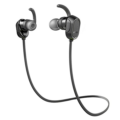 Anker SoundBuds Wireless Headphones - Sweatproof, Magnetic In-Ear Sport Earbuds with 8-Hour Playtime and Noise Cancellation, Secure Fit Bluetooth Headset for Running, Workout and Gym