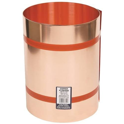 Image of Home Improvements AMERIMAX HOME PRODUCTS 67314 14-Inch x10-Feet Copper Flashing