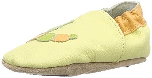 HOBEA-Germany Lauflernschuhe Raupe - Pantuflas para bebés Elfenbein (vanille)