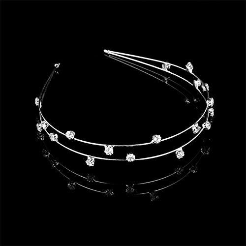 (Women Crystal Headband Rhinestone Silver Hairband Headpiece Hair Band Party (Color - #8))