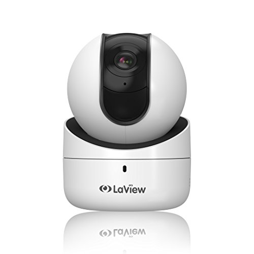 LaView Wireless IP Camera, WiFi 1080P Indoor Pan Tilt Home Surveillance Security Camera with Two Way Audio, Night Vision, 16GB Micro Sd Card, Motion Detection Baby Pet Nanny Monitor - White (Wireless Spy Webcam)